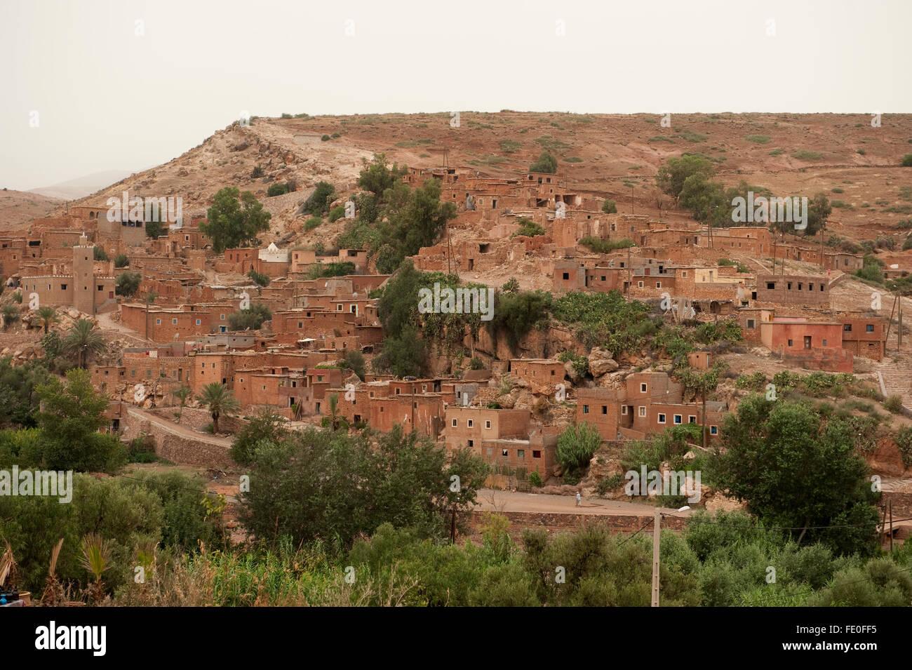 Villaggio berbero, Marocco Immagini Stock