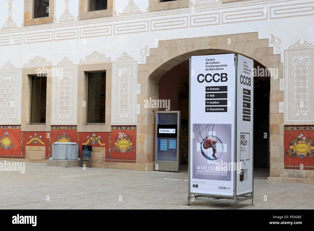 Centre de Cultura Contemporania de Barcelona, Catalogna, Spagna, Europa Immagini Stock