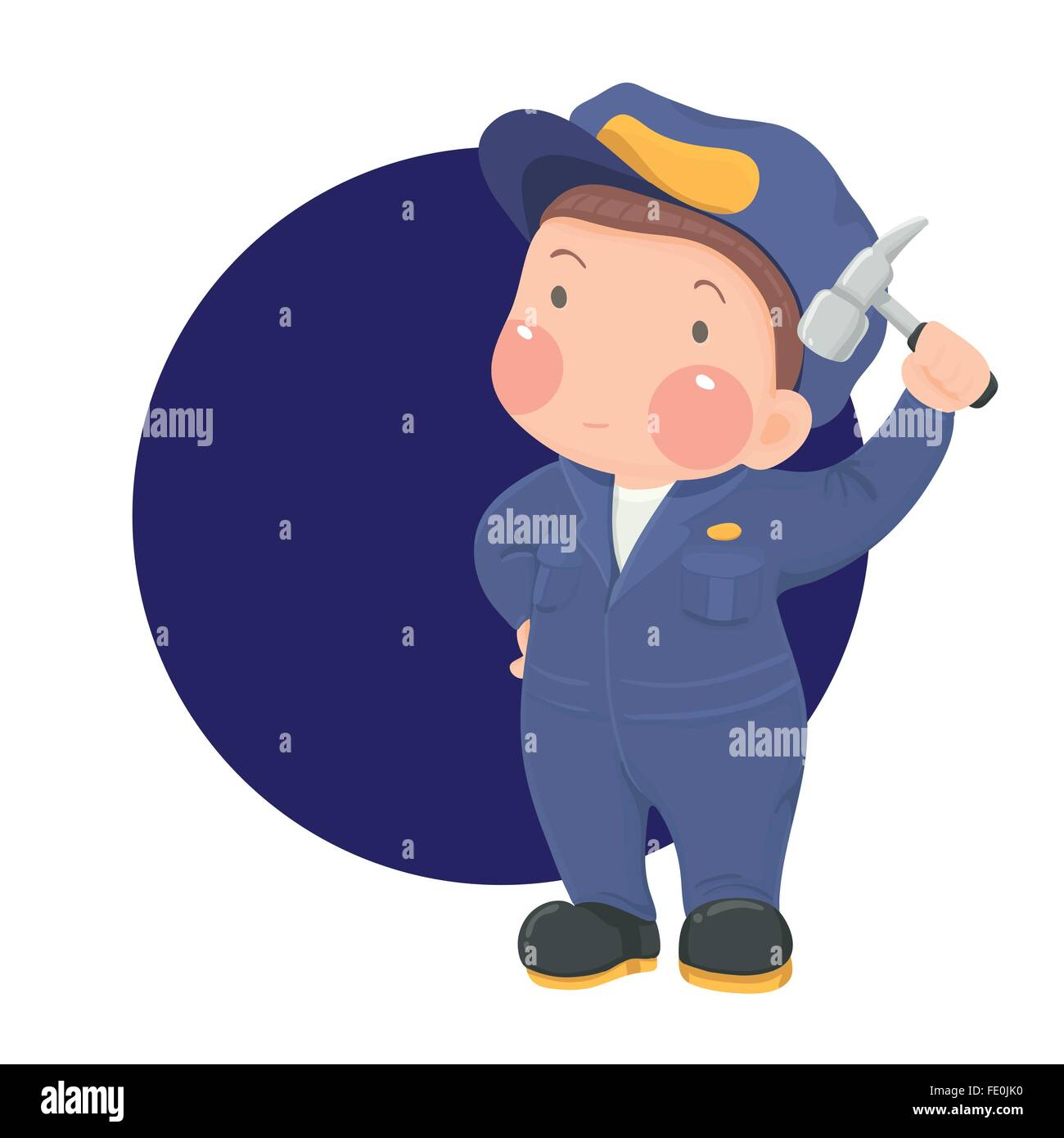 Elemento di illustrazione personaggio dei cartoni animati blu