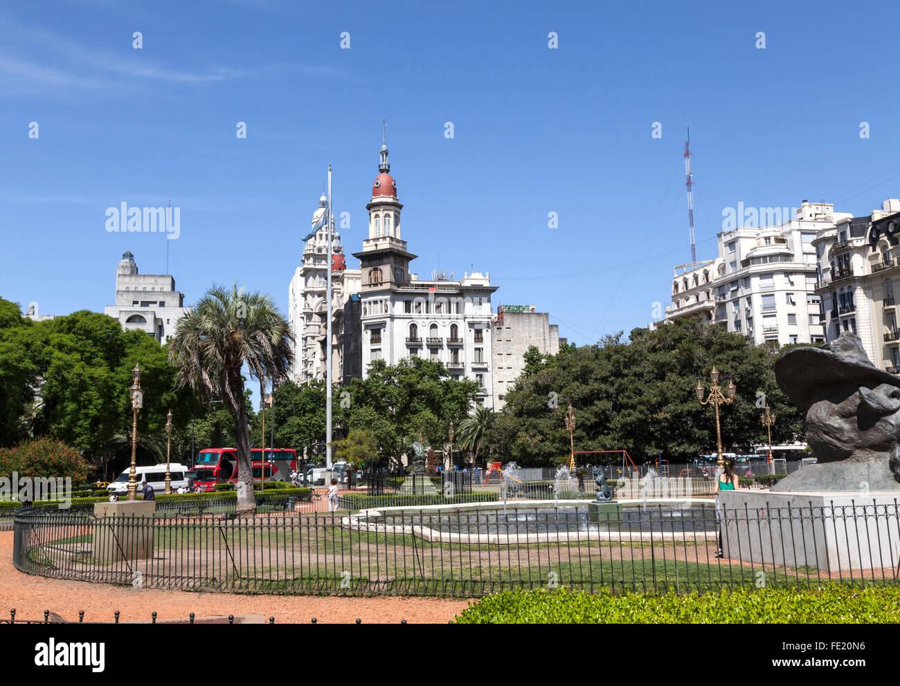 Mariano Moreno Plaza, Buenos Aires Immagini Stock