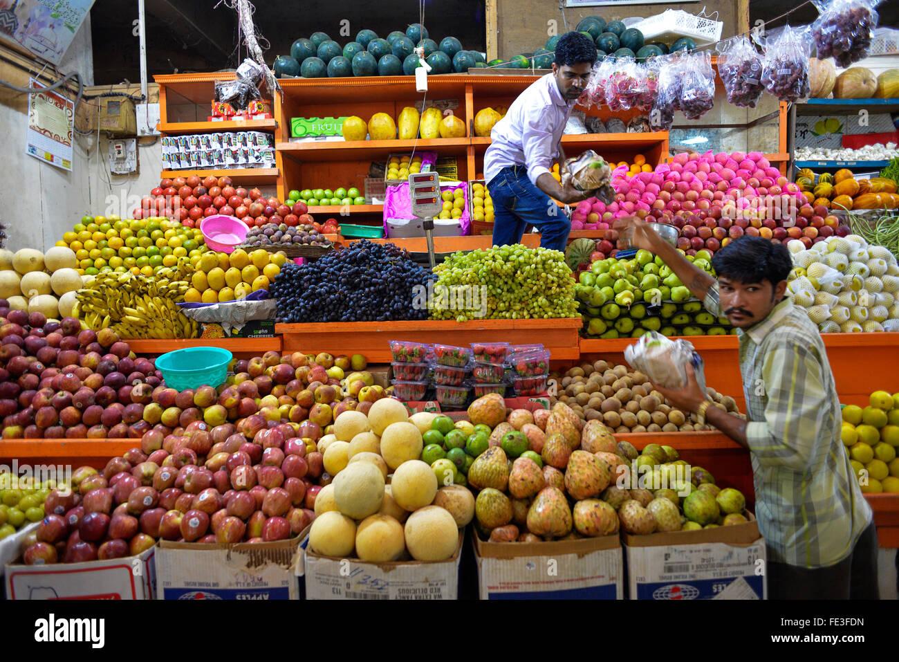 India Goa mercato di frutta e verdura in Panaji Foto Stock