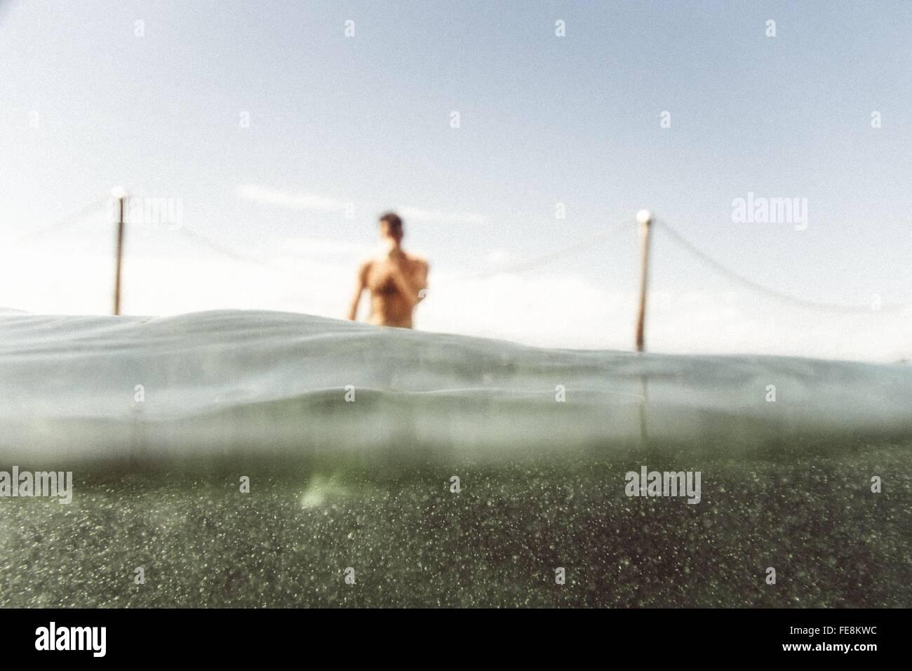 Uomo In acqua Immagini Stock