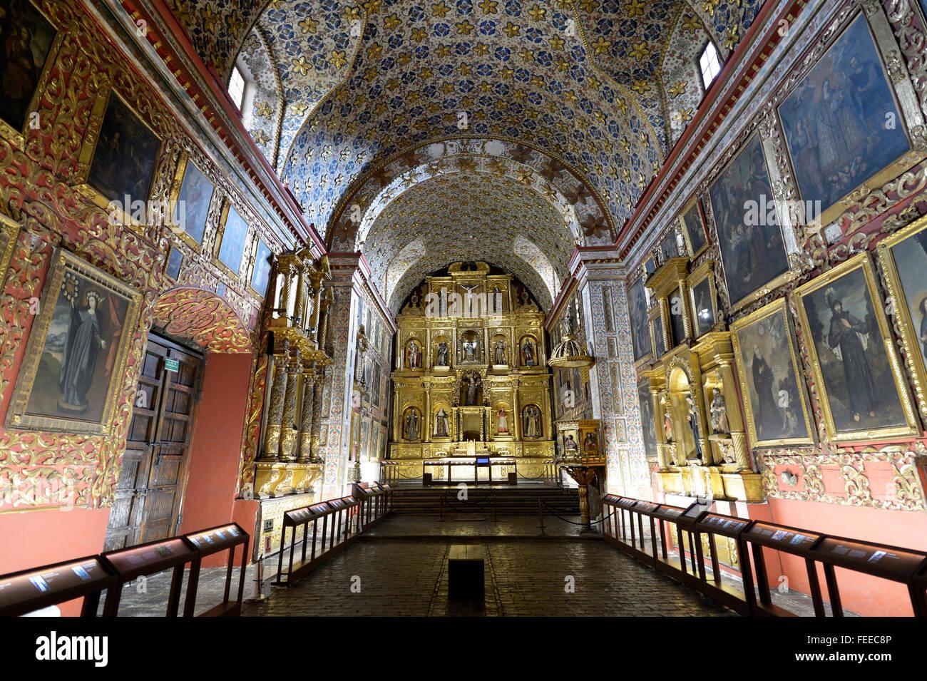 Museum e Abbazia di Iglesia Museo de Santa Clara, Bogotà, Colombia Immagini Stock