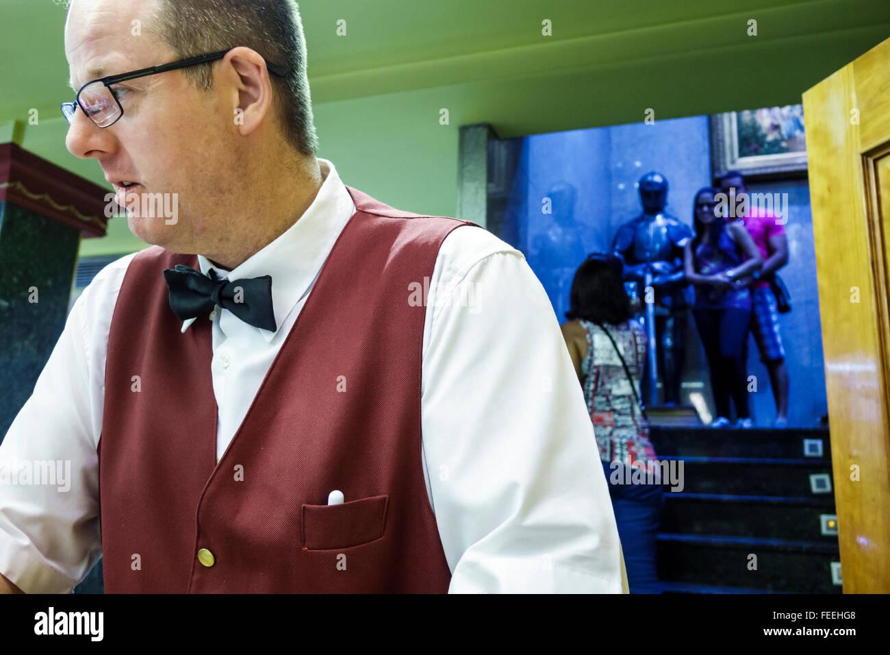 Madrid Spagna Europa spagnolo Centro Ispanico Retiro Paseo del Prado Prado Restaurant ristorante caffetteria business Immagini Stock