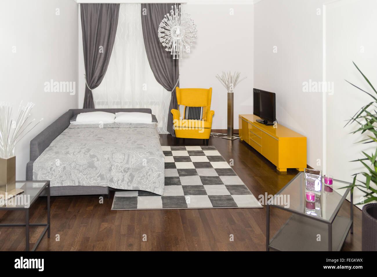 Hotel Moderno Appartamento Con 3d Con Soggiorno E Camera Da