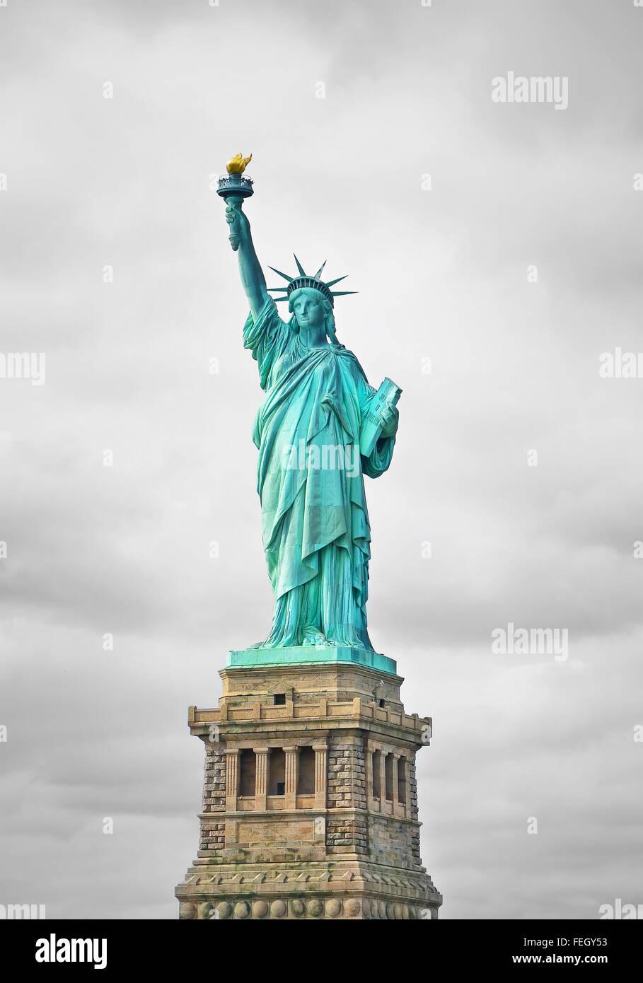 La statua della libertà di new york city Foto Stock