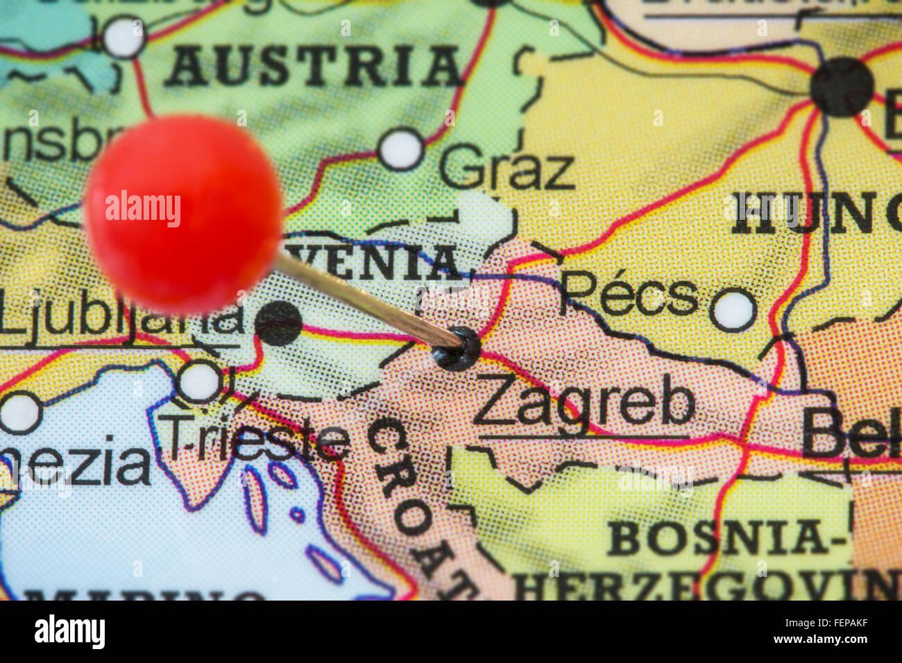 Cartina Zagabria.Zagreb City Map Immagini E Fotos Stock Alamy
