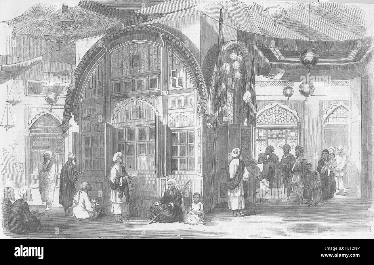Clero Tomba di Mussulman 1870. Illustrated London News Immagini Stock