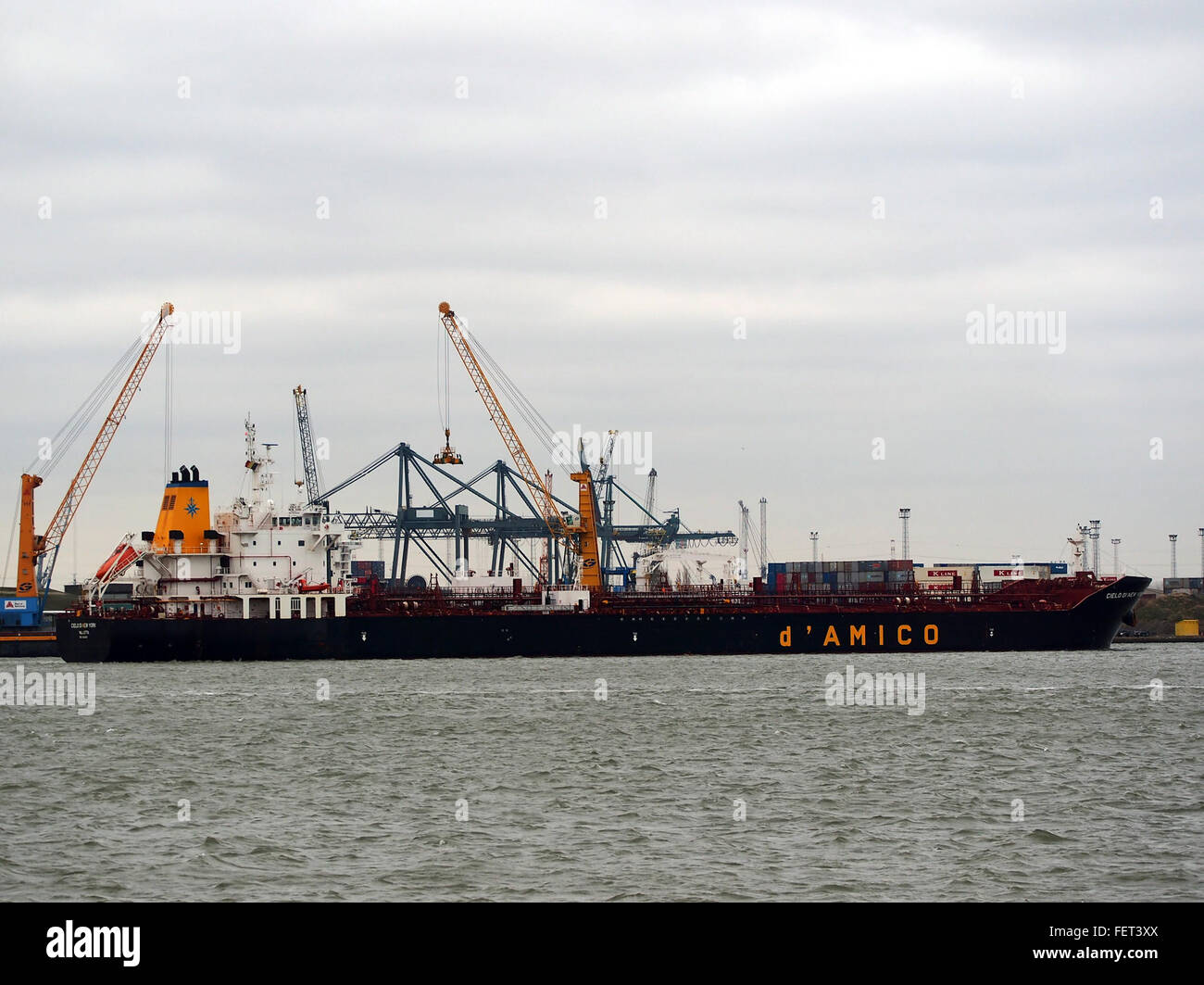Il cielo di New York (nave, 2014) l'IMO 9669665 porto di Anversa Immagini Stock