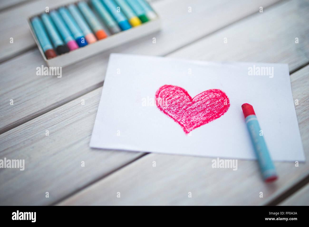 Olio e pastelli Hand-Drawn sentire Immagini Stock