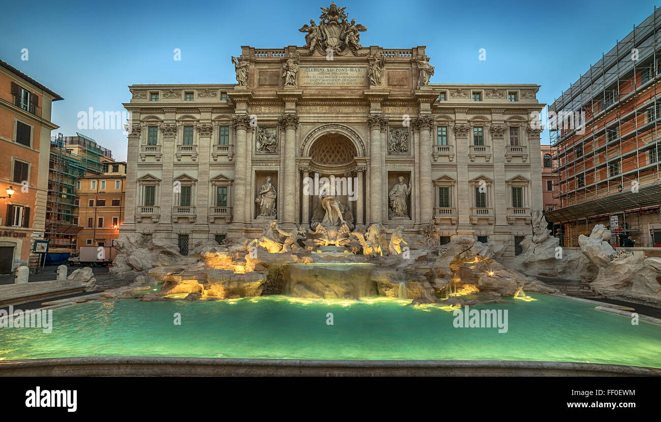 Roma, Italia: Fontana di Trevi Immagini Stock