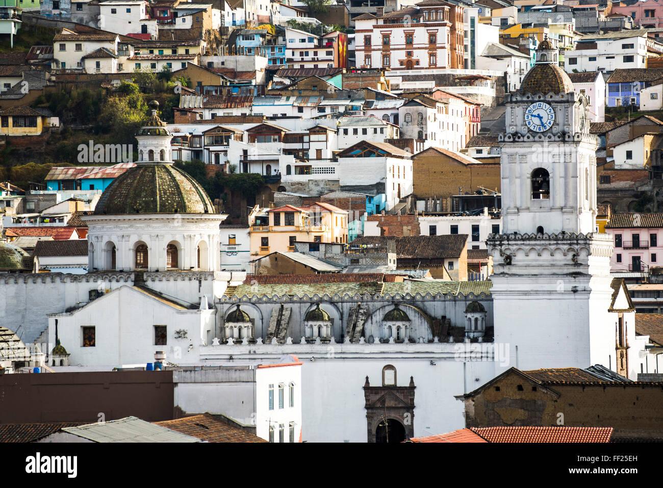 ArchitecturaRM detaiRMs al ORMd città di Quito, WorRMd UNESCO Patrimonio dell'Umanità, Ecuador, Sud Immagini Stock