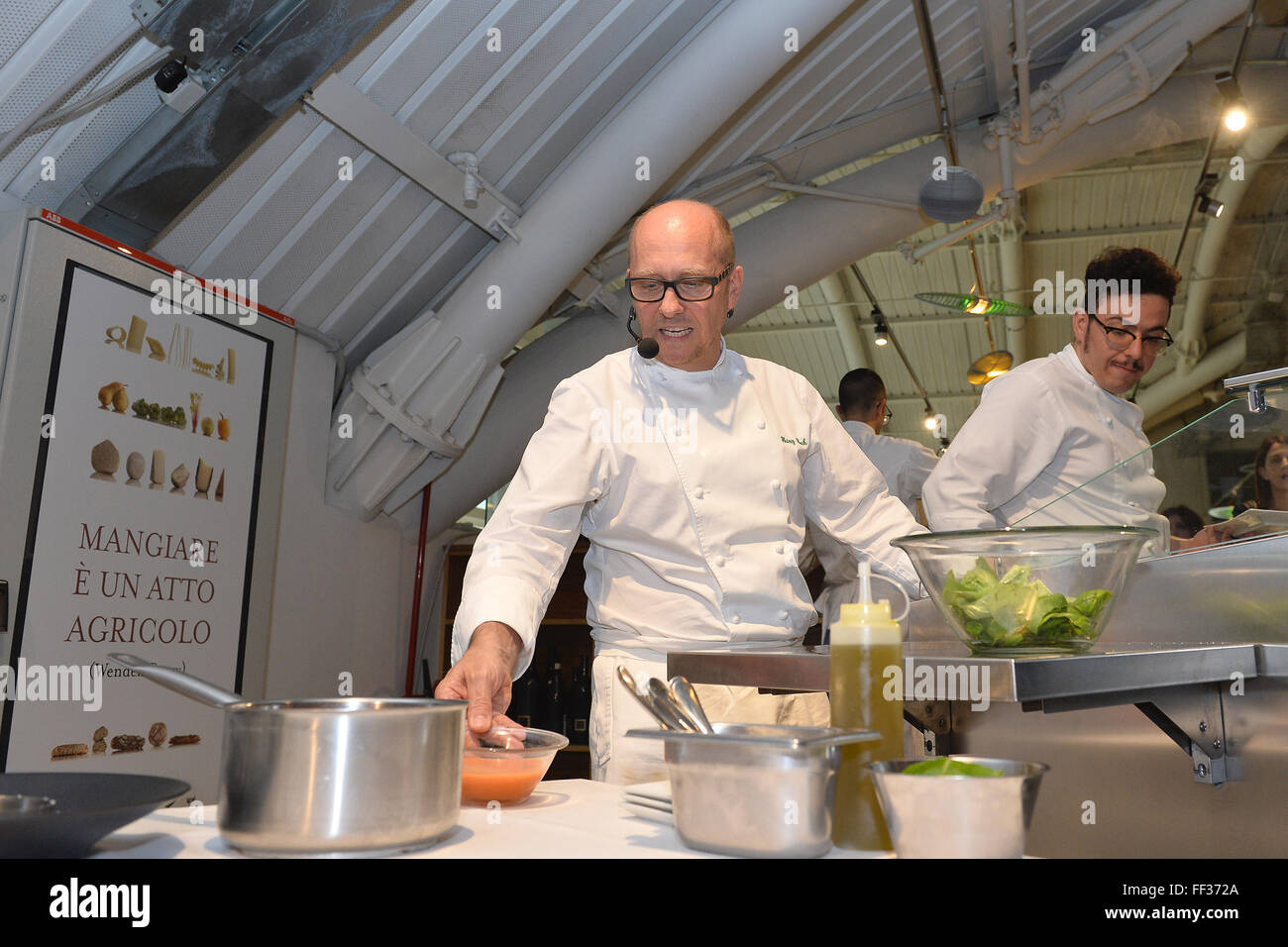Heinz Beck Roma 16/06/2015 Eataly Presentazione del libro Ricette d'Autore Foto Andrea Staccioli Insidefoto Immagini Stock