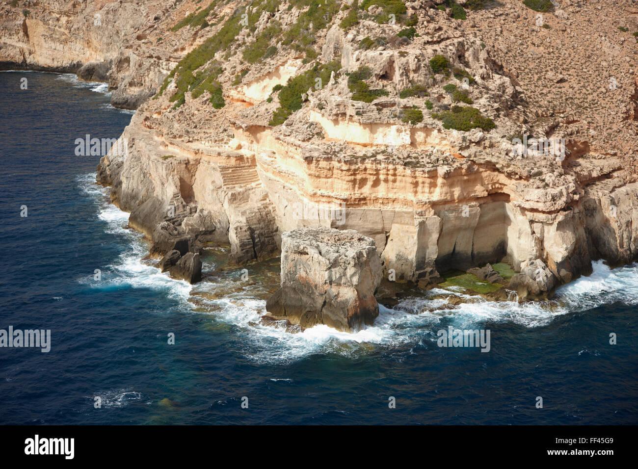 Antenna della costa di Mallorca Immagini Stock