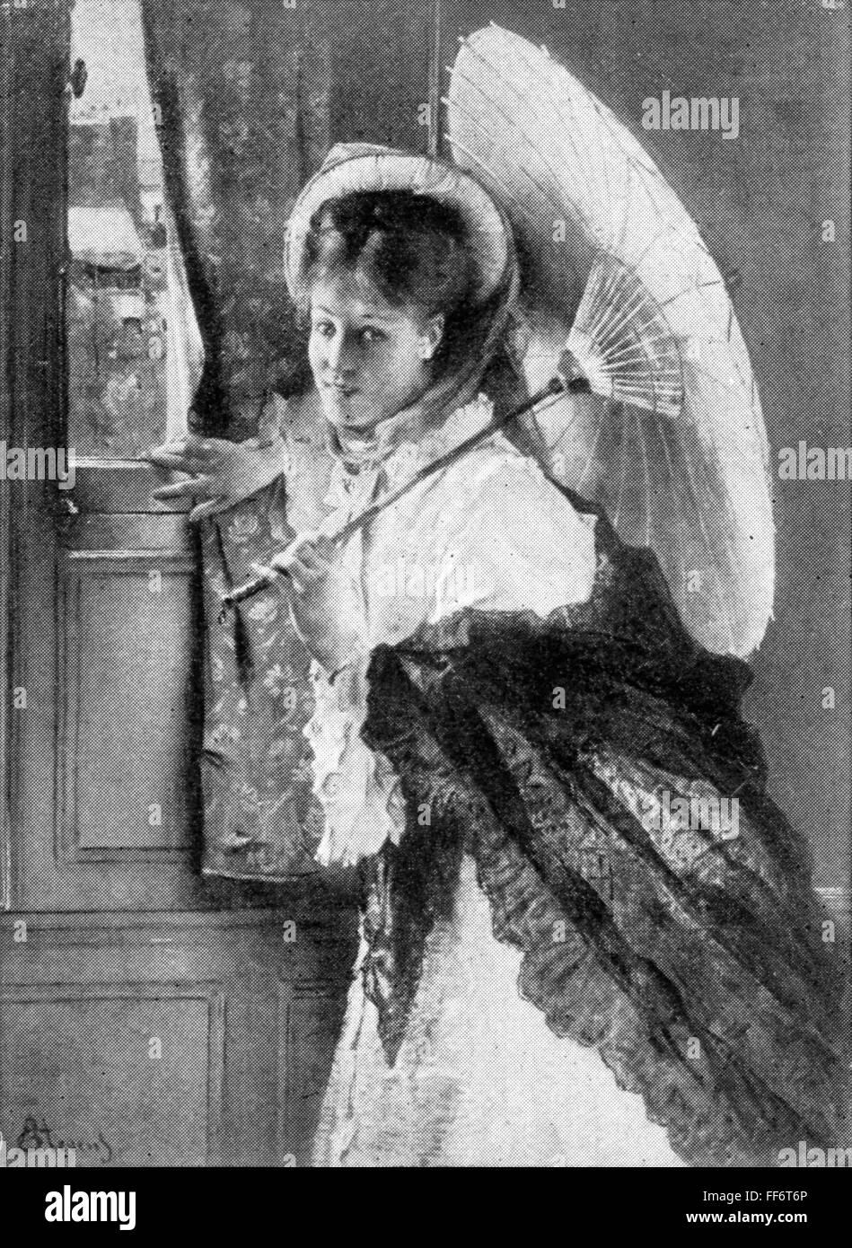 """Belle arti, Stevens, Alfred (1823 - 1906), pittura, 'Pronto per andare"""", 1874, olio su pannello, il Museo Immagini Stock"""
