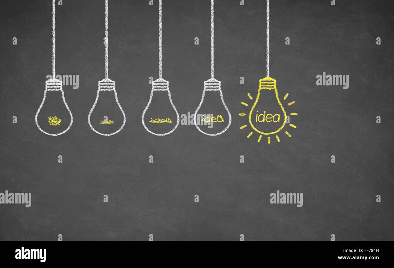 Idee lampadina della luce Immagini Stock