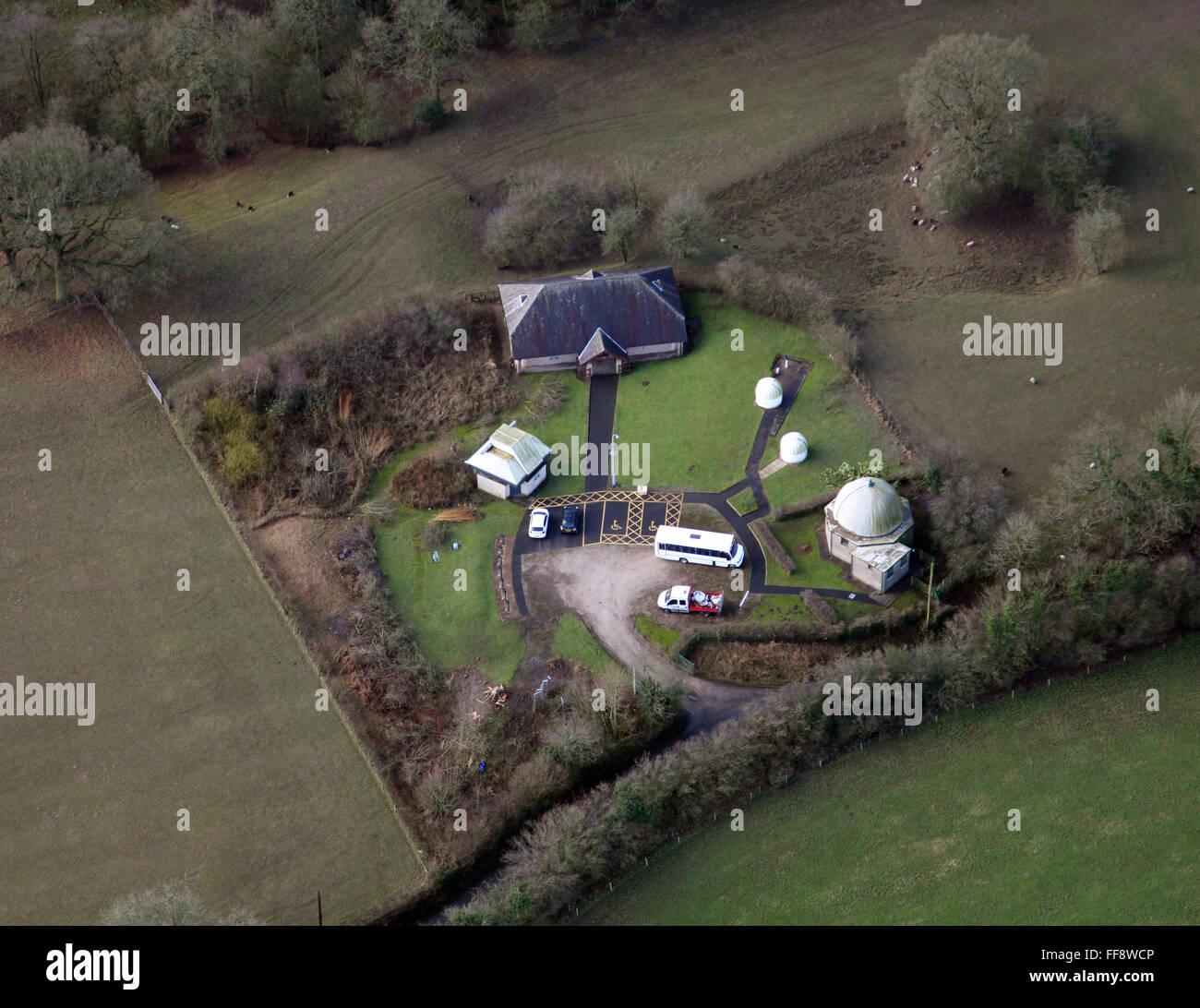 Vista aerea del UCLAN Alston Osservatorio vicino a Preston, Regno Unito Immagini Stock