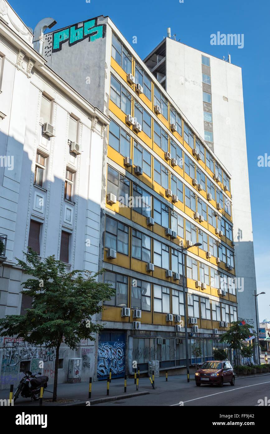 Elektroprivreda Srbije (EPS) headquarters building a Belgrado in Serbia Immagini Stock