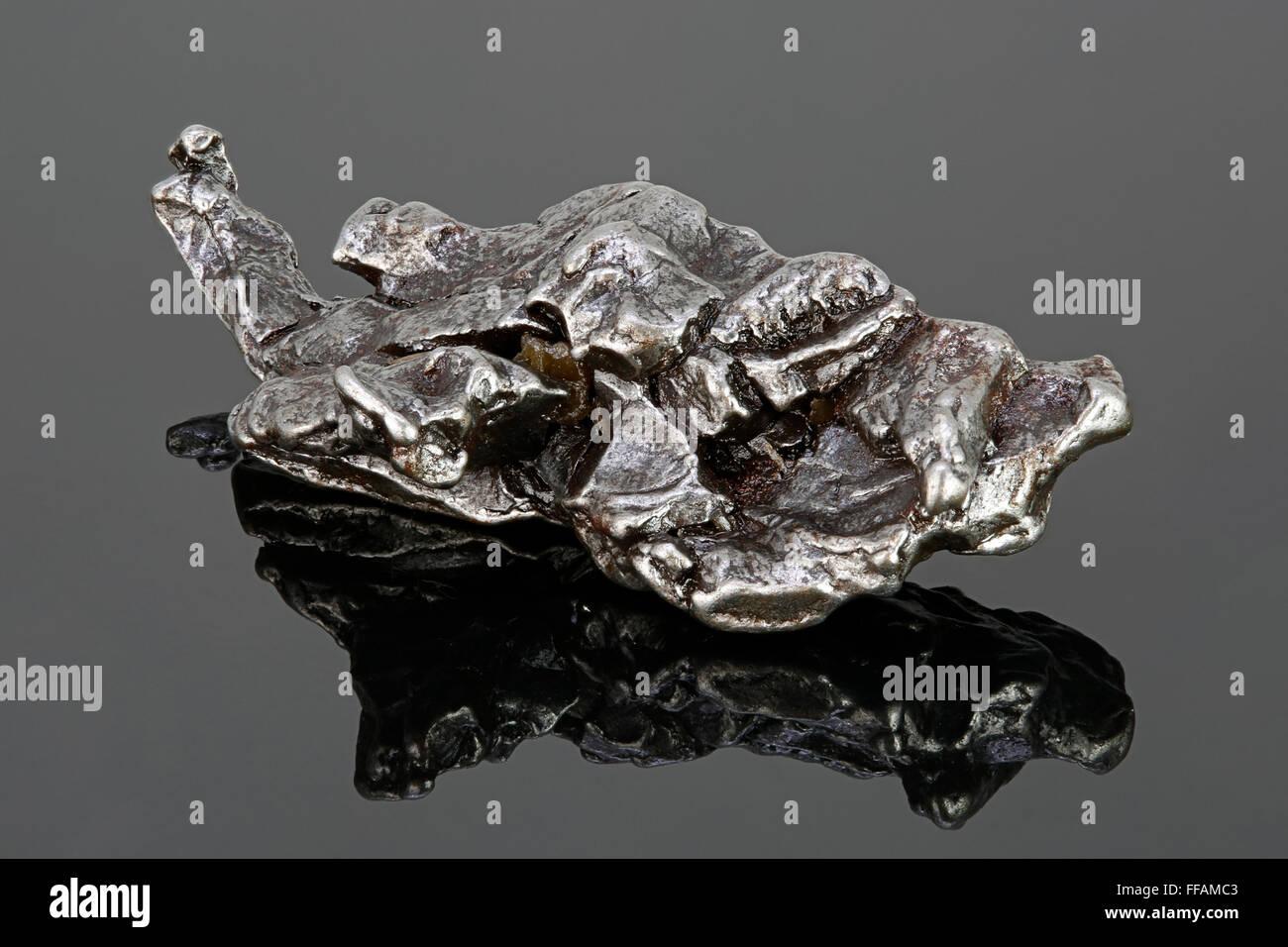 Meteorite ferroso, octahedrite grossolana, Campo del Cielo (campo dei Cieli), Argentina Immagini Stock