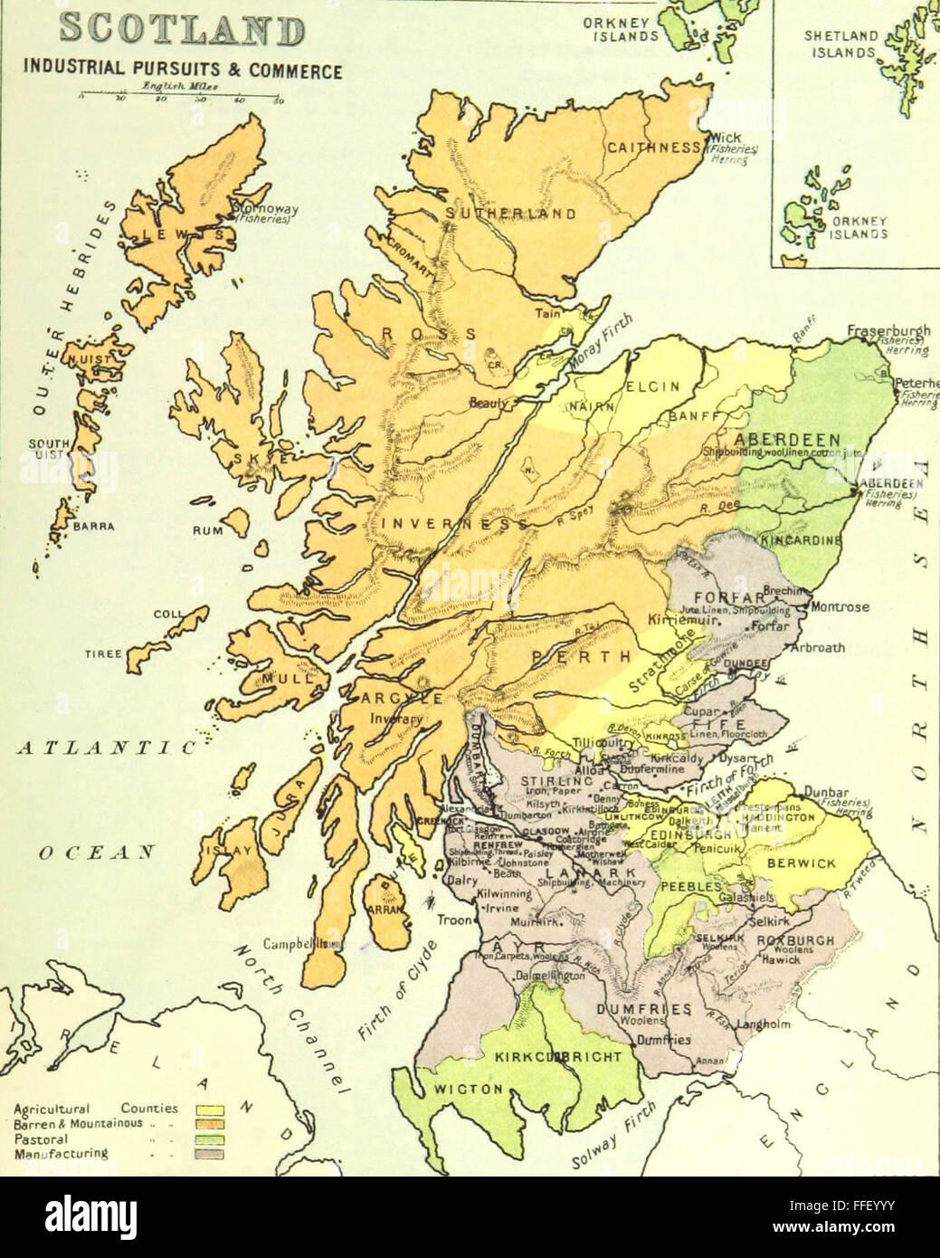 Cartina Stradale Della Scozia.Mappa Storica Della Scozia Foto Stock Alamy