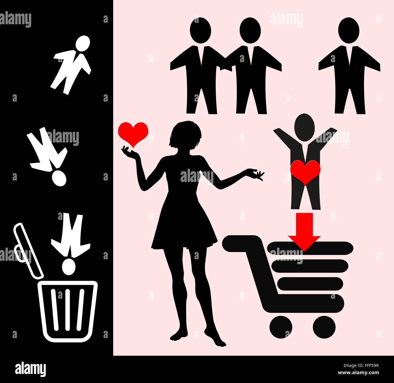 Amore in rete Immagini Stock