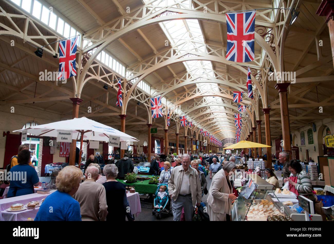 Interno mercato bauletto Barnstaple Devon England Regno Unito Europa Immagini Stock