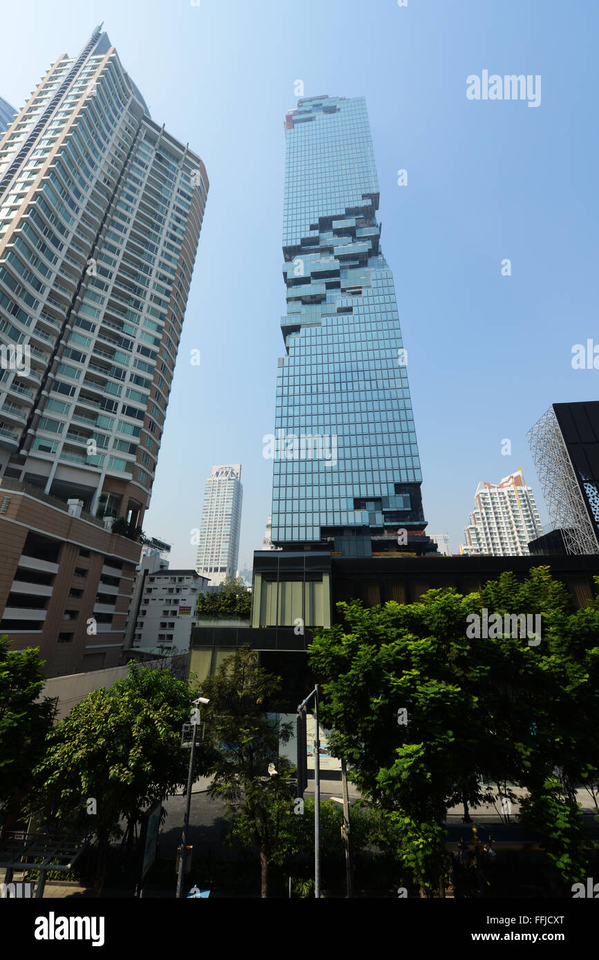 L'ultra moderno grattacielo MahaNakhon a Bangkok, in Thailandia. Immagini Stock