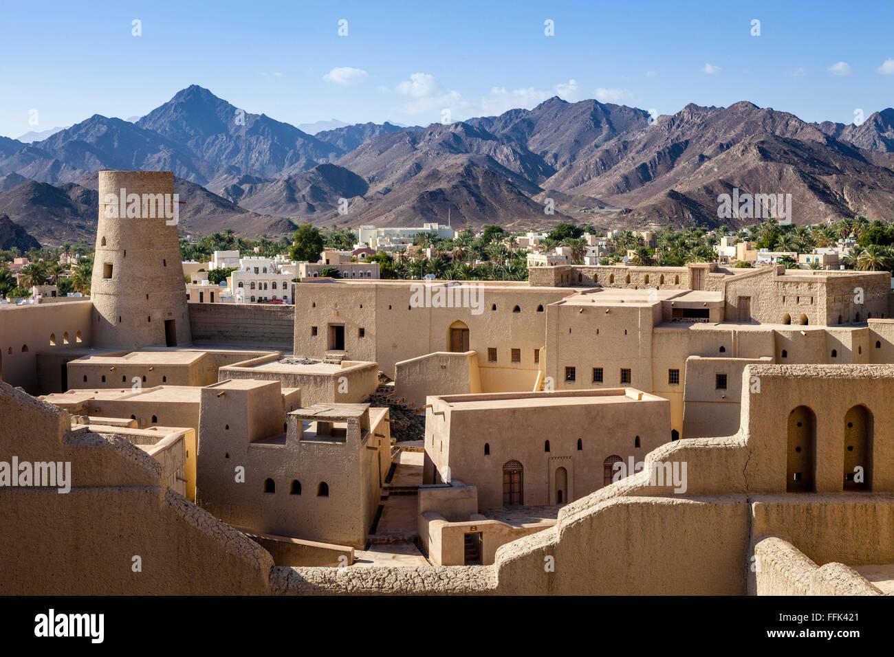 Bahla Fort, Ad Dakhiliyah Regione, Oman Immagini Stock