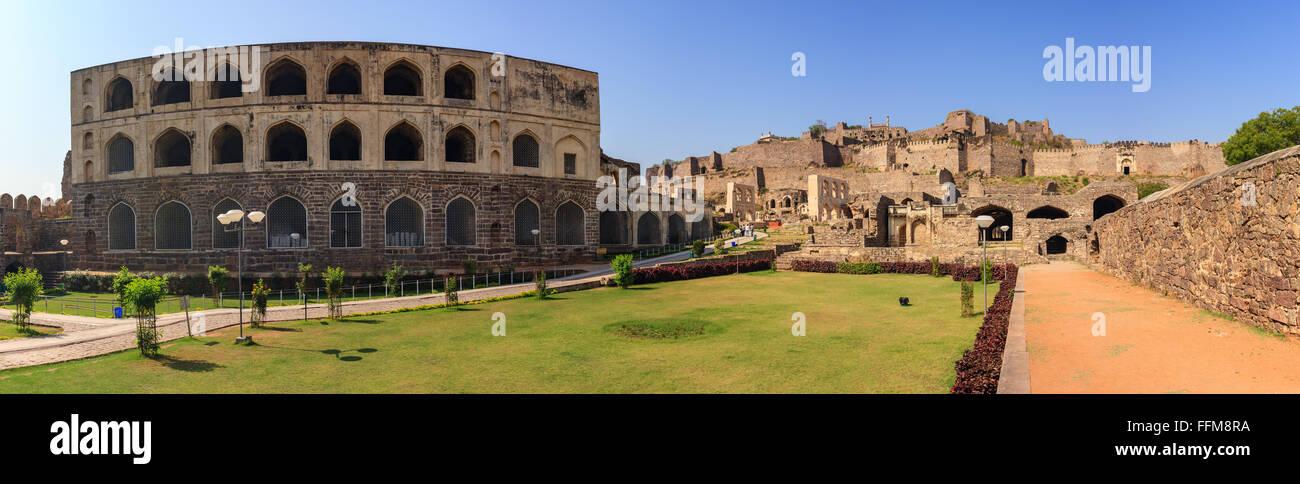 Golkonda Fort , città di Hyderabad, India Immagini Stock