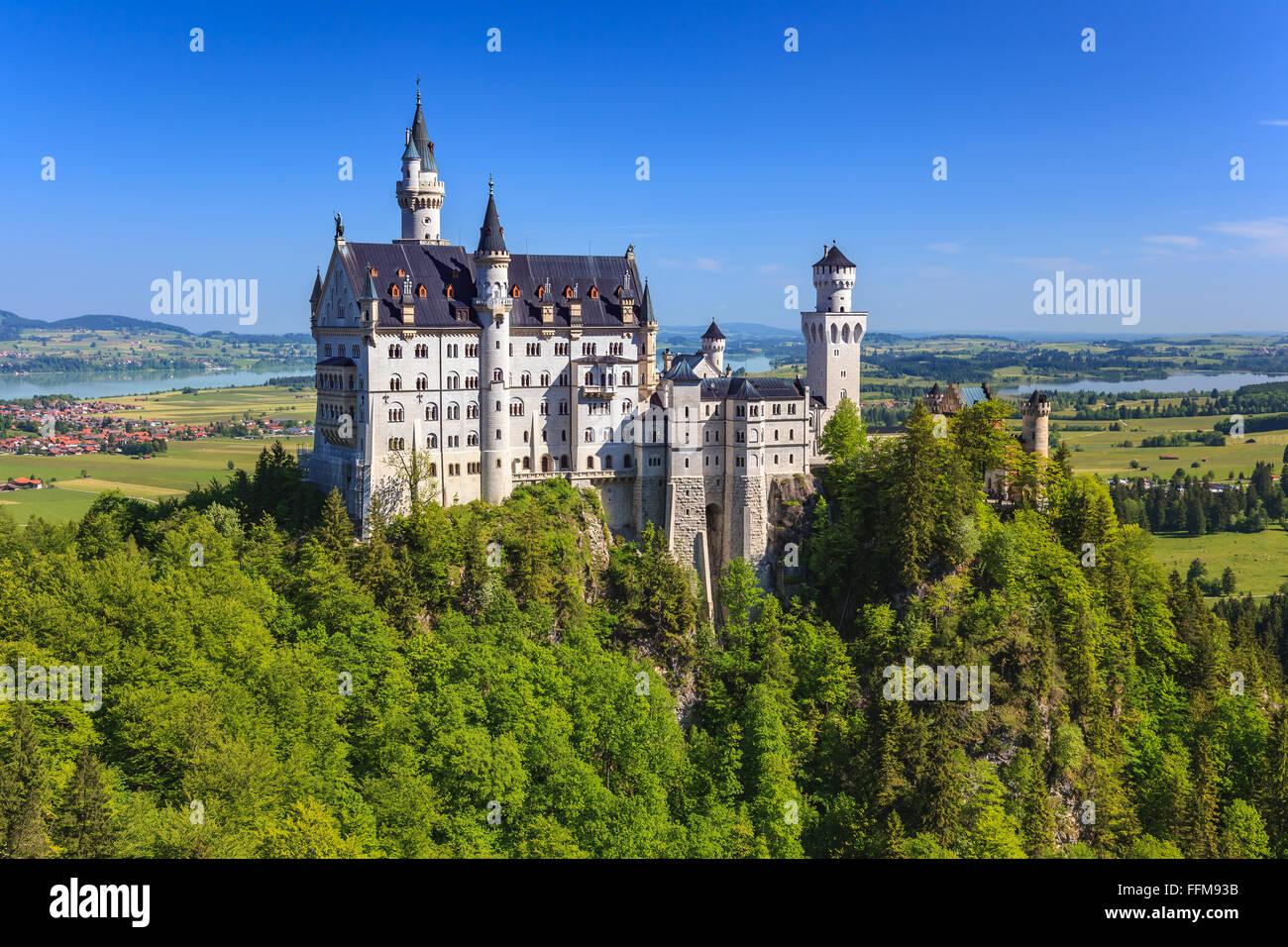Il Castello di Neuschwanstein , Fussen , Baviera , Germania Immagini Stock