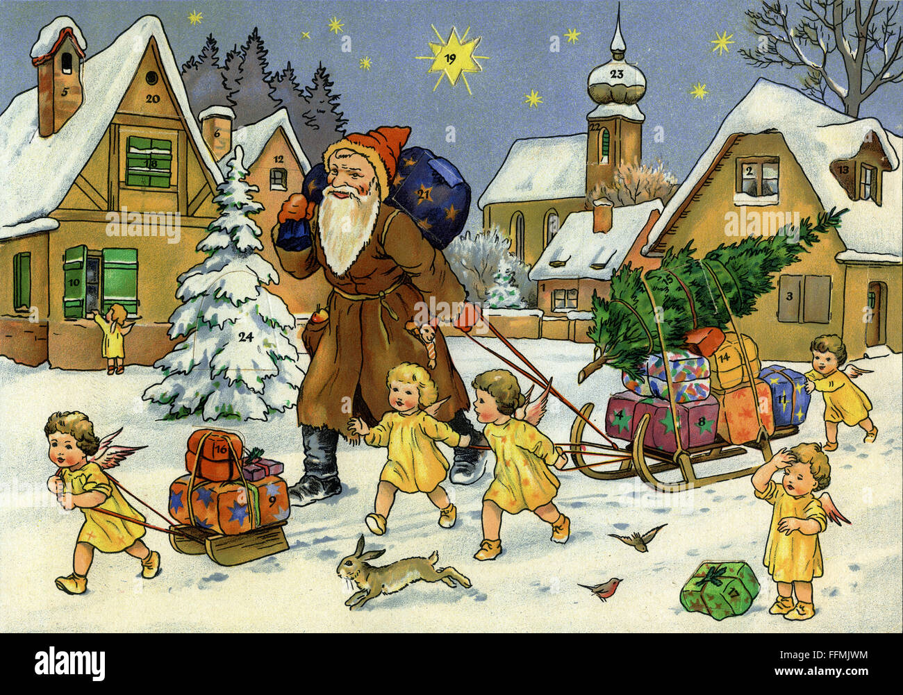 San Nicola Calendario.Natale Calendario Dell Avvento Babbo Natale San Nicola