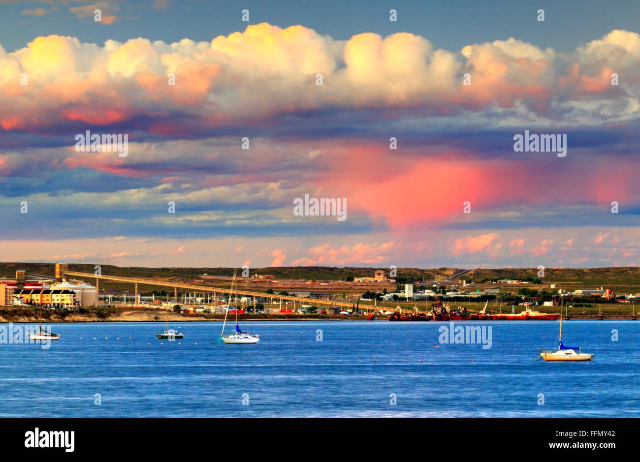 Puerto Madryn costa. Chubut, Argentina. Immagini Stock