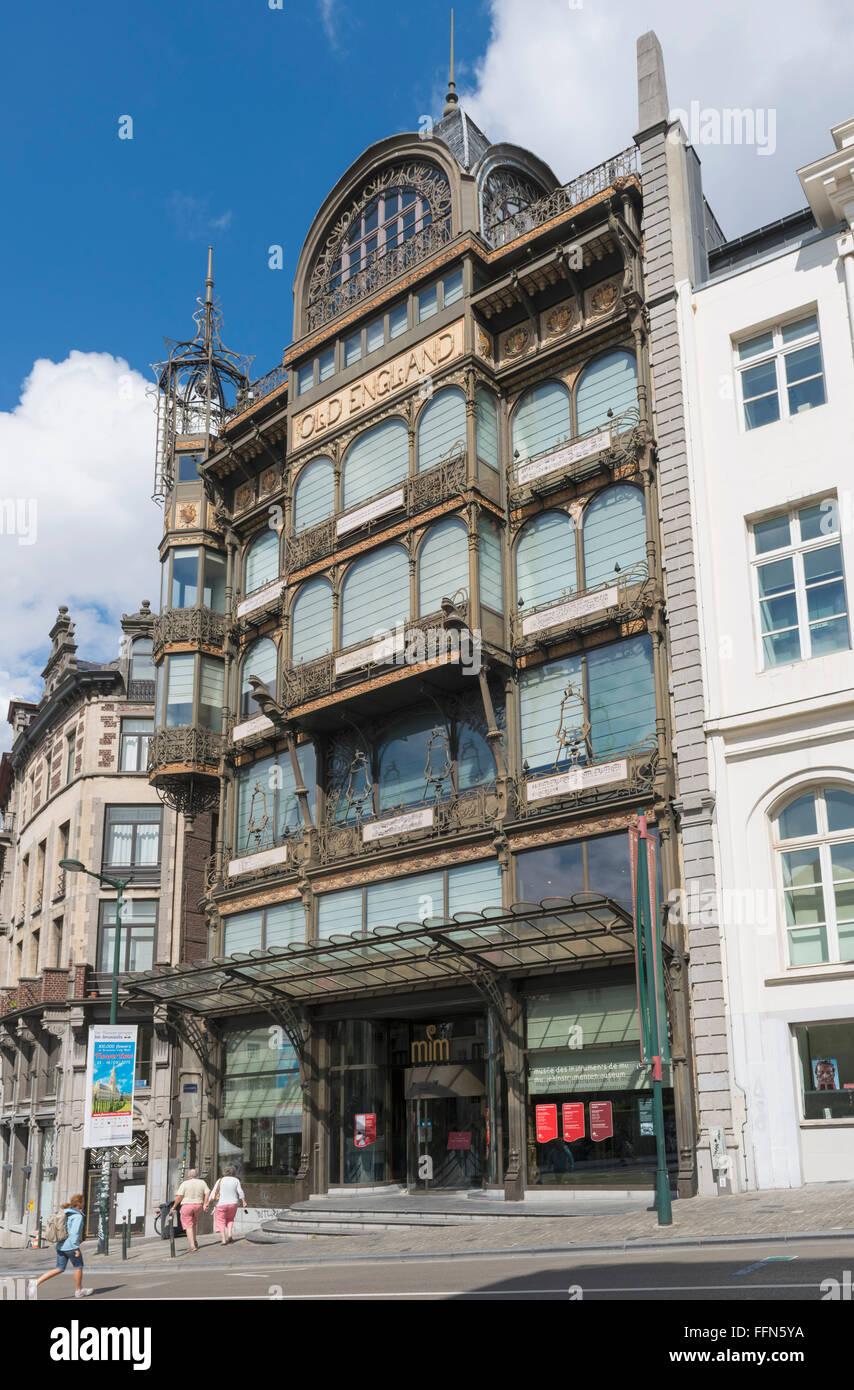 Museo degli Strumenti Musicali, Bruxelles, Belgio, Europa Immagini Stock