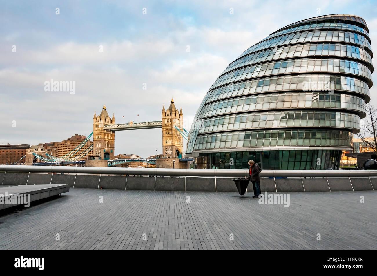 Vista del moderno London Immagini Stock