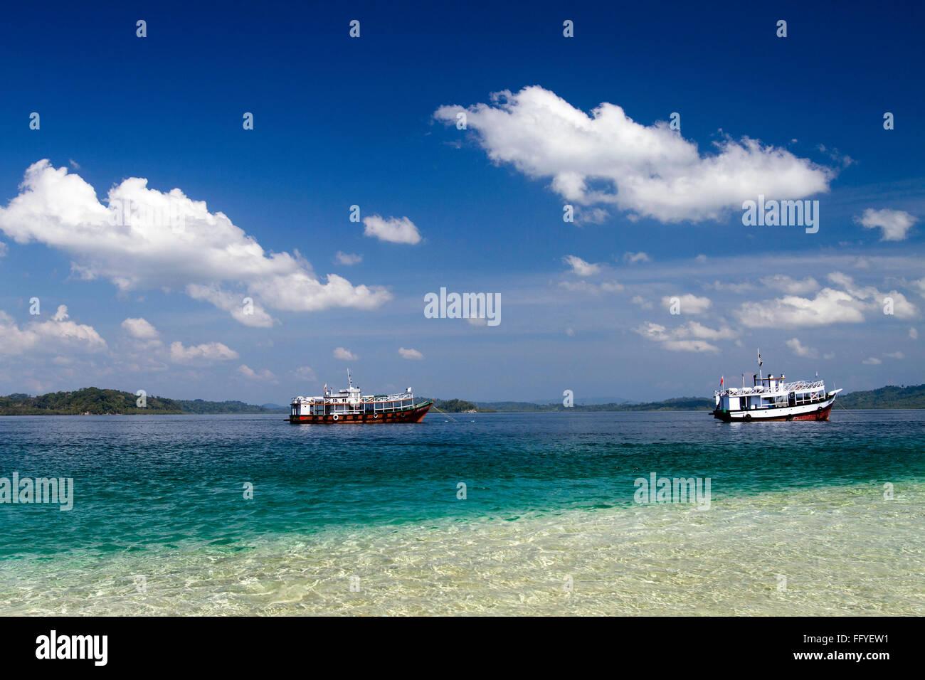 Jolly Boa isola nei pressi di Wandoor delle Andamane Asia India Immagini Stock