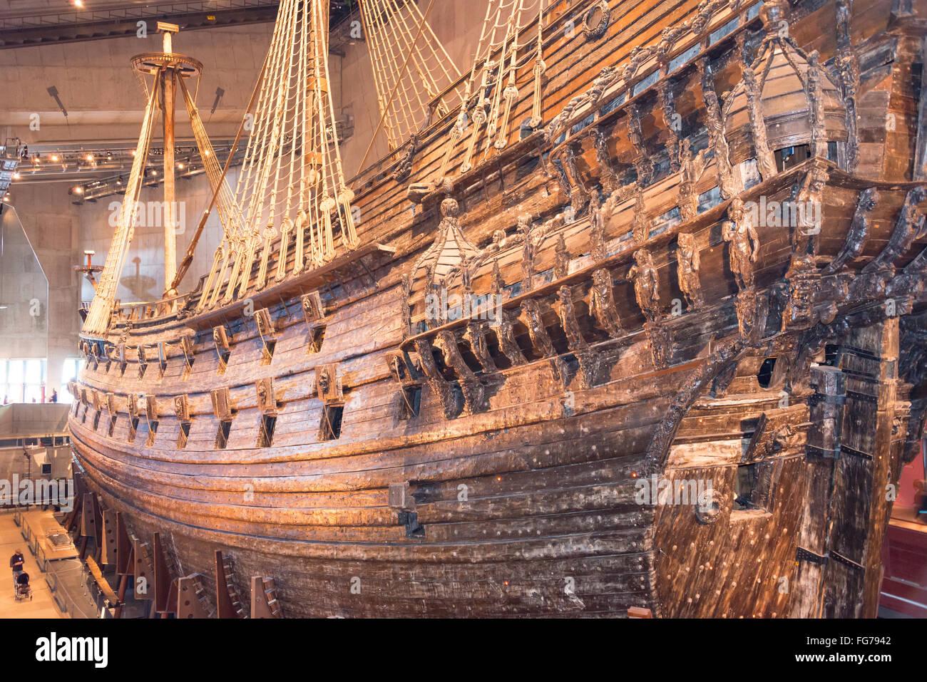"""Del XVII secolo """"Vasa"""", nave da guerra Vasa Museum, Galärvarvsvägen, Djurgården, Stoccolma, Immagini Stock"""