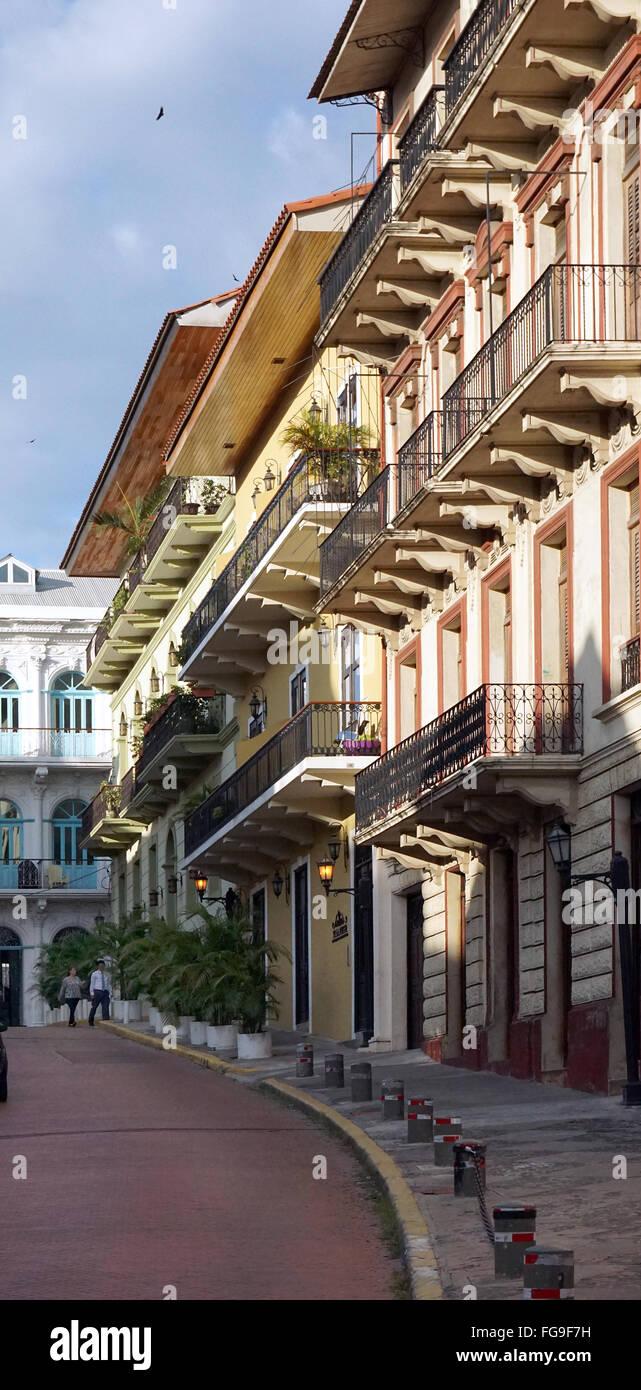 Casco Viejo zona coloniale Panamá City Immagini Stock