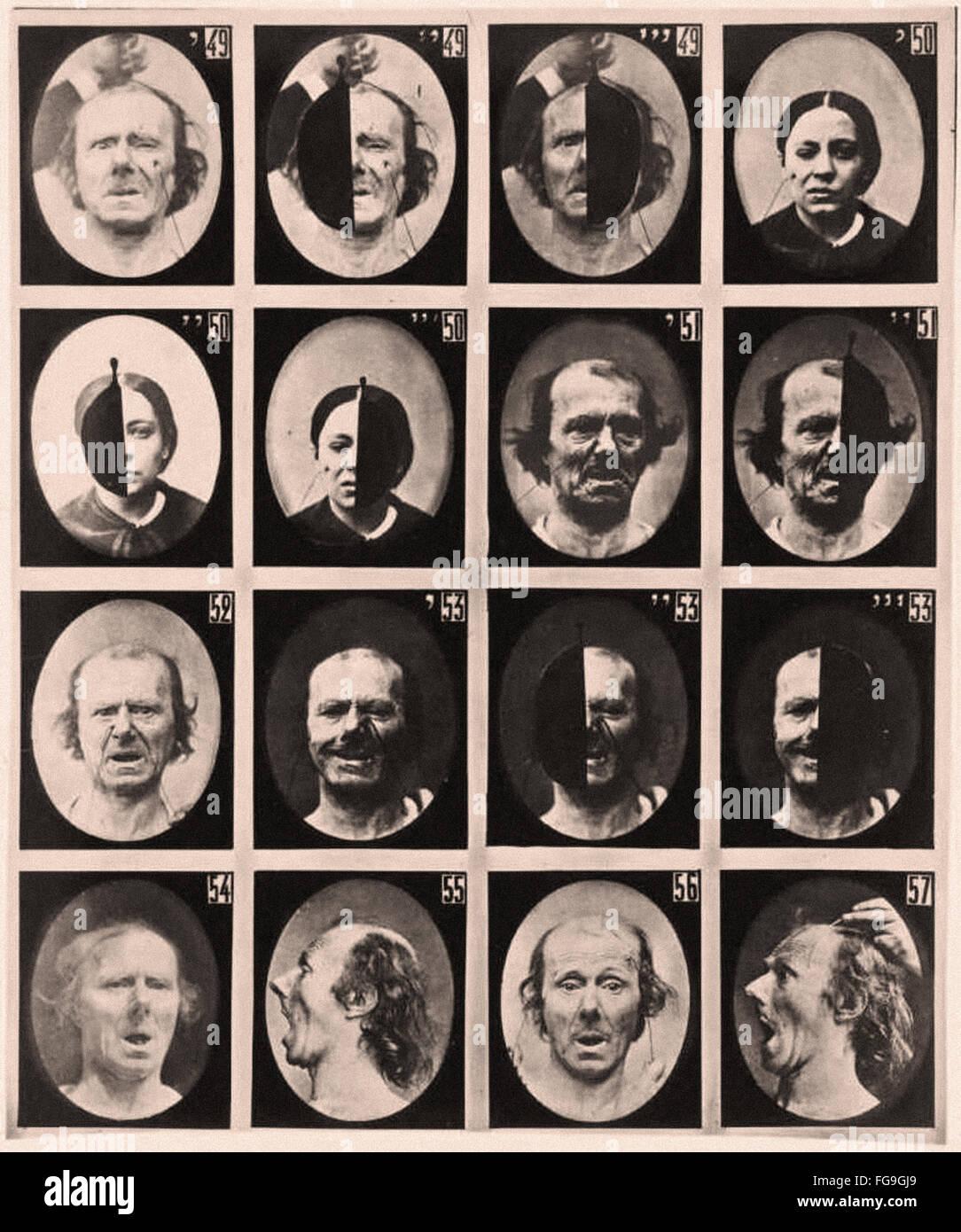 Alphonse Bertillon - le espressioni umane Immagini Stock
