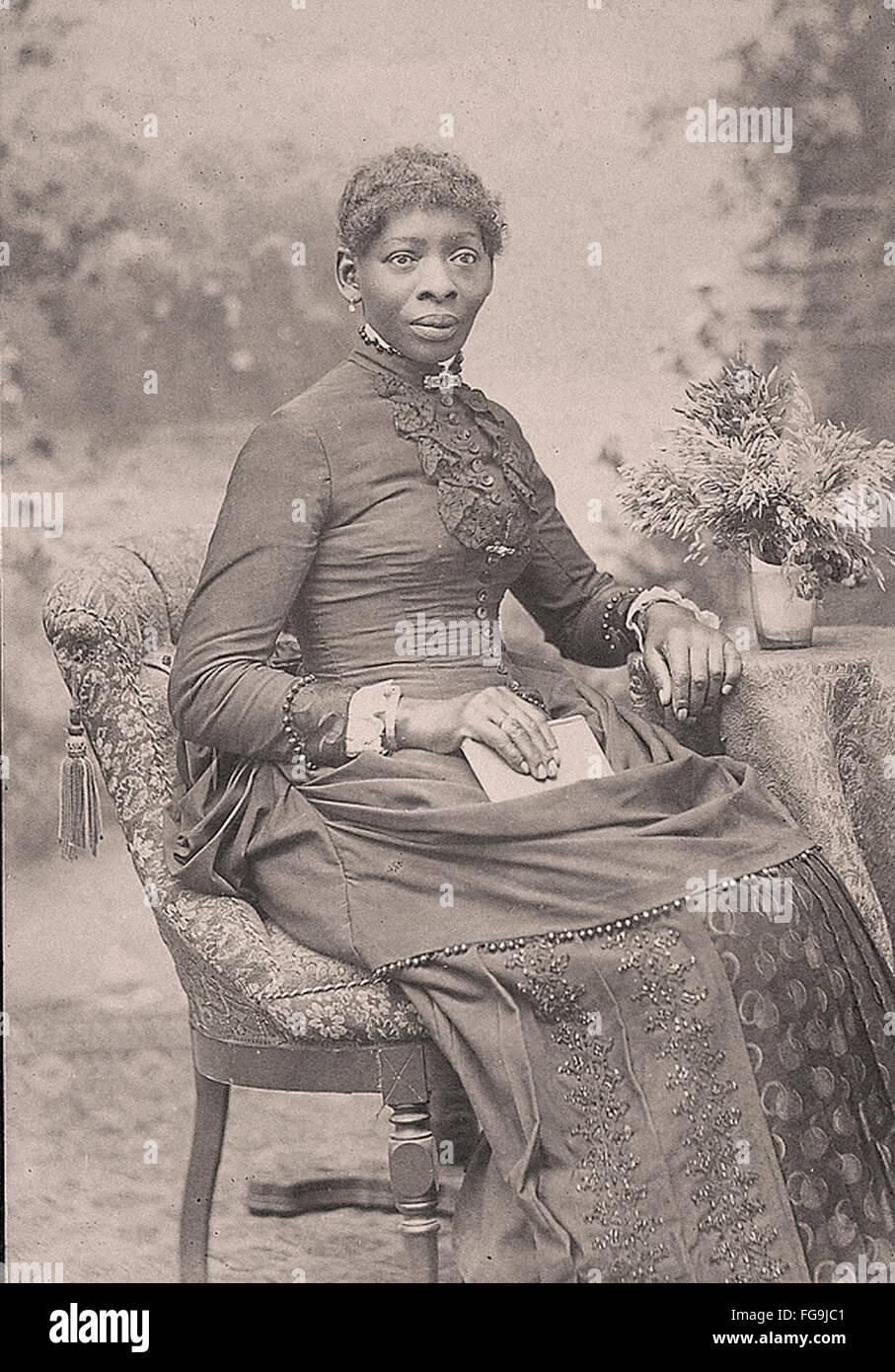 Ritratto di un afro-americane donna nel tardo XIX secolo Immagini Stock