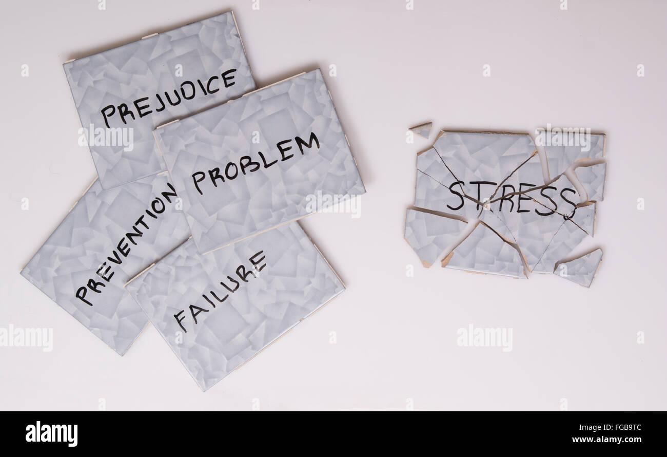 superare lo stress Immagini Stock