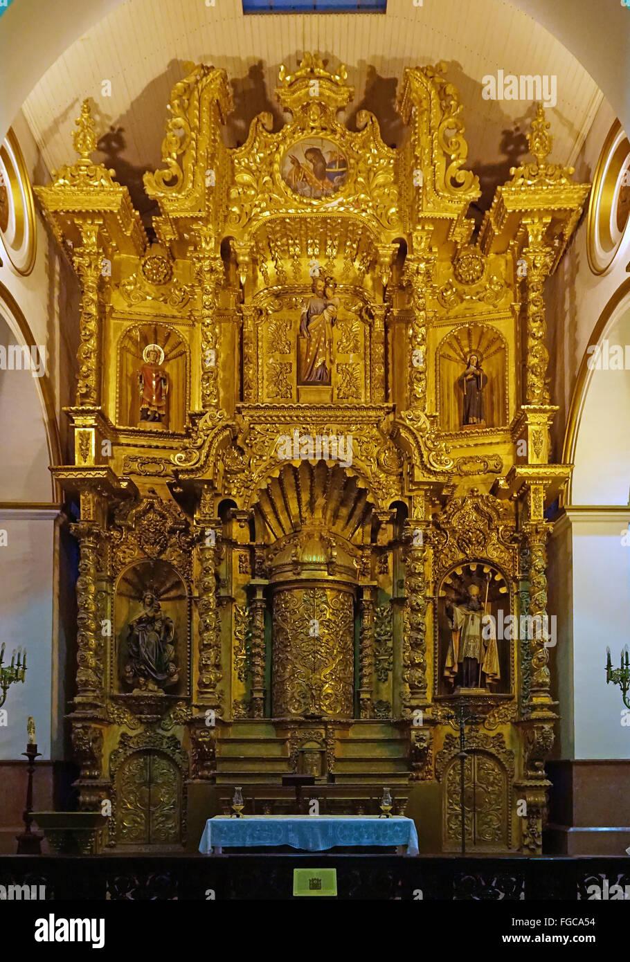 Chiesa dell'altare d'oro di San José di Panama city Panamá Immagini Stock