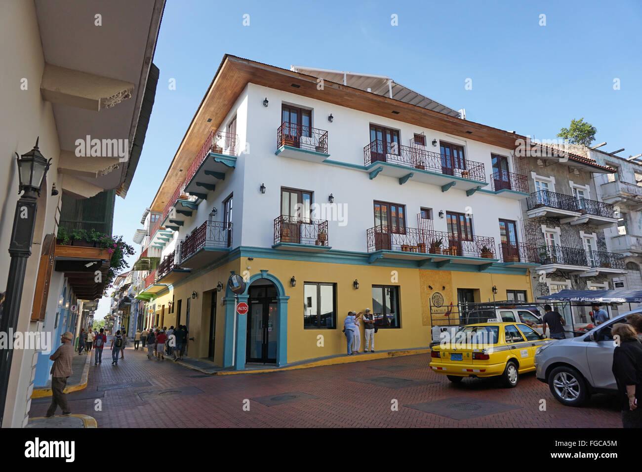 Città di Panama Panama zona coloniale di casco viejo Immagini Stock