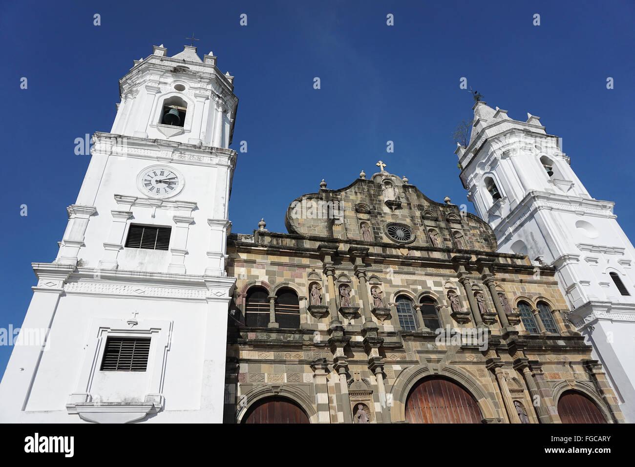 Panamá City Cattedrale Casco Viejo plaza de la Independencia Immagini Stock