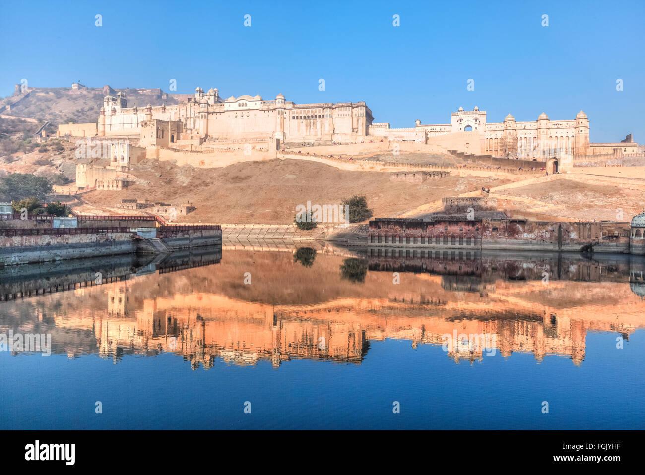 Forte Amer, Jaipur, Rajasthan, India Immagini Stock