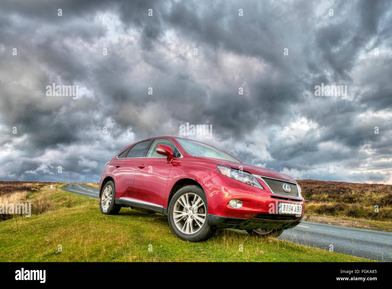 Lexus Hybrid 450RH ampio angolo di ripresa creativa. Immagini Stock
