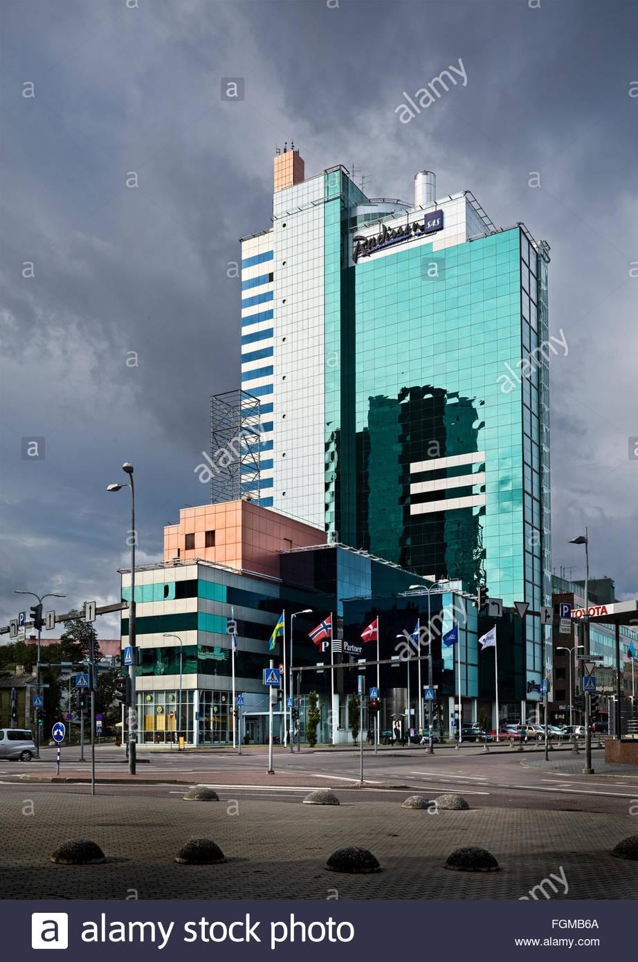 Hotel Radisson Blu a Tallinn in Estonia Immagini Stock