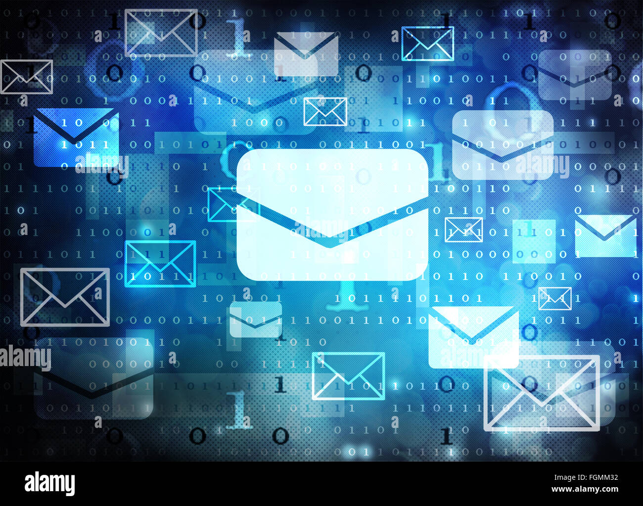 E-mail sfondo astratto Immagini Stock