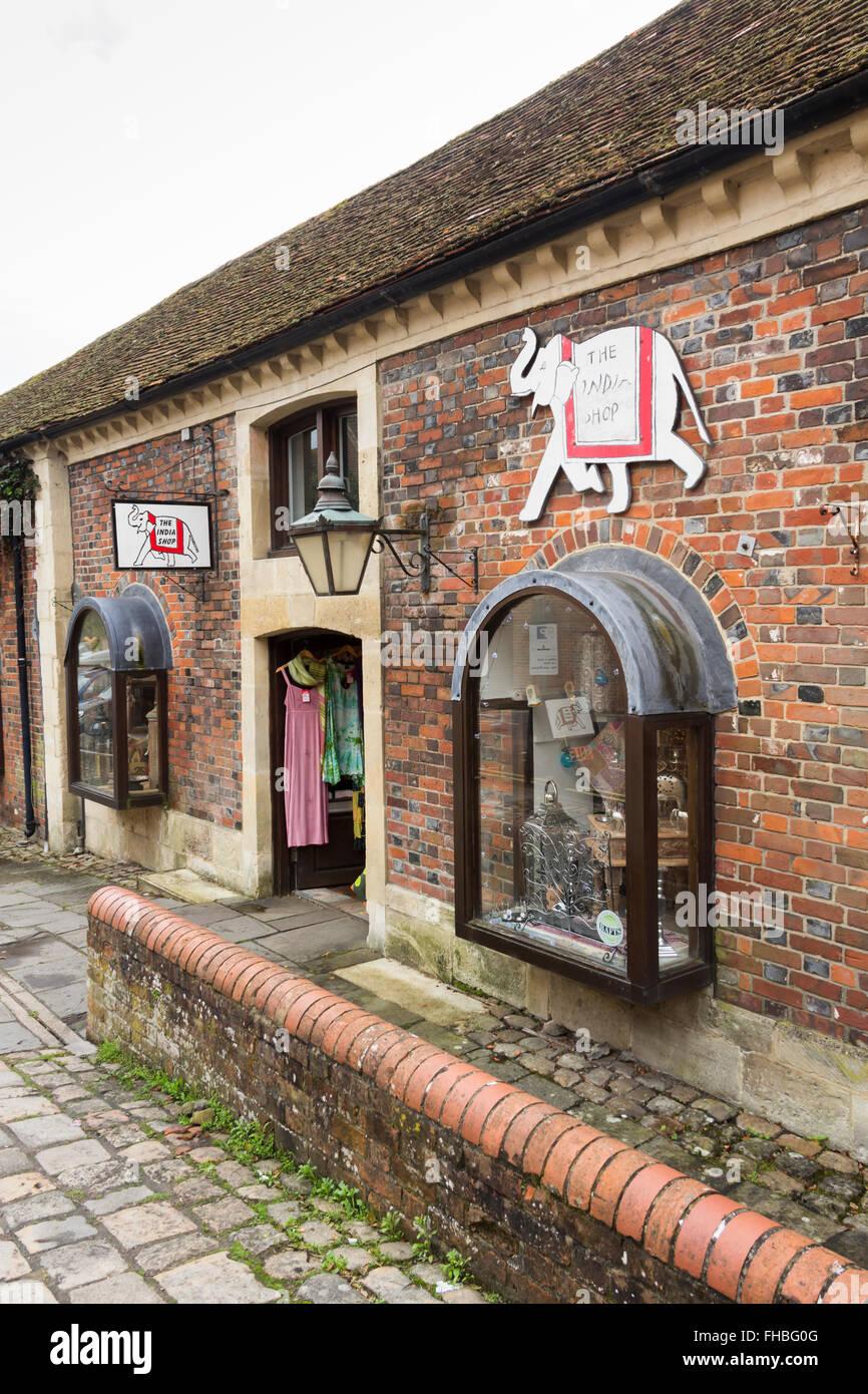 L'India Shop, Hilliers cantiere, Marlborough, Wiltshire, società indipendente di impresa familiare la vendita Immagini Stock