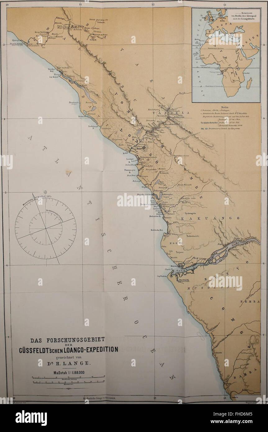 Die Loango-Expedition ausgesandt von der Deutschen Gesellschaft zur Erforschung Aequatorial-Africas, 1873-1876. Ein Reisewerk in drei Abtheilungen (1888) Foto Stock