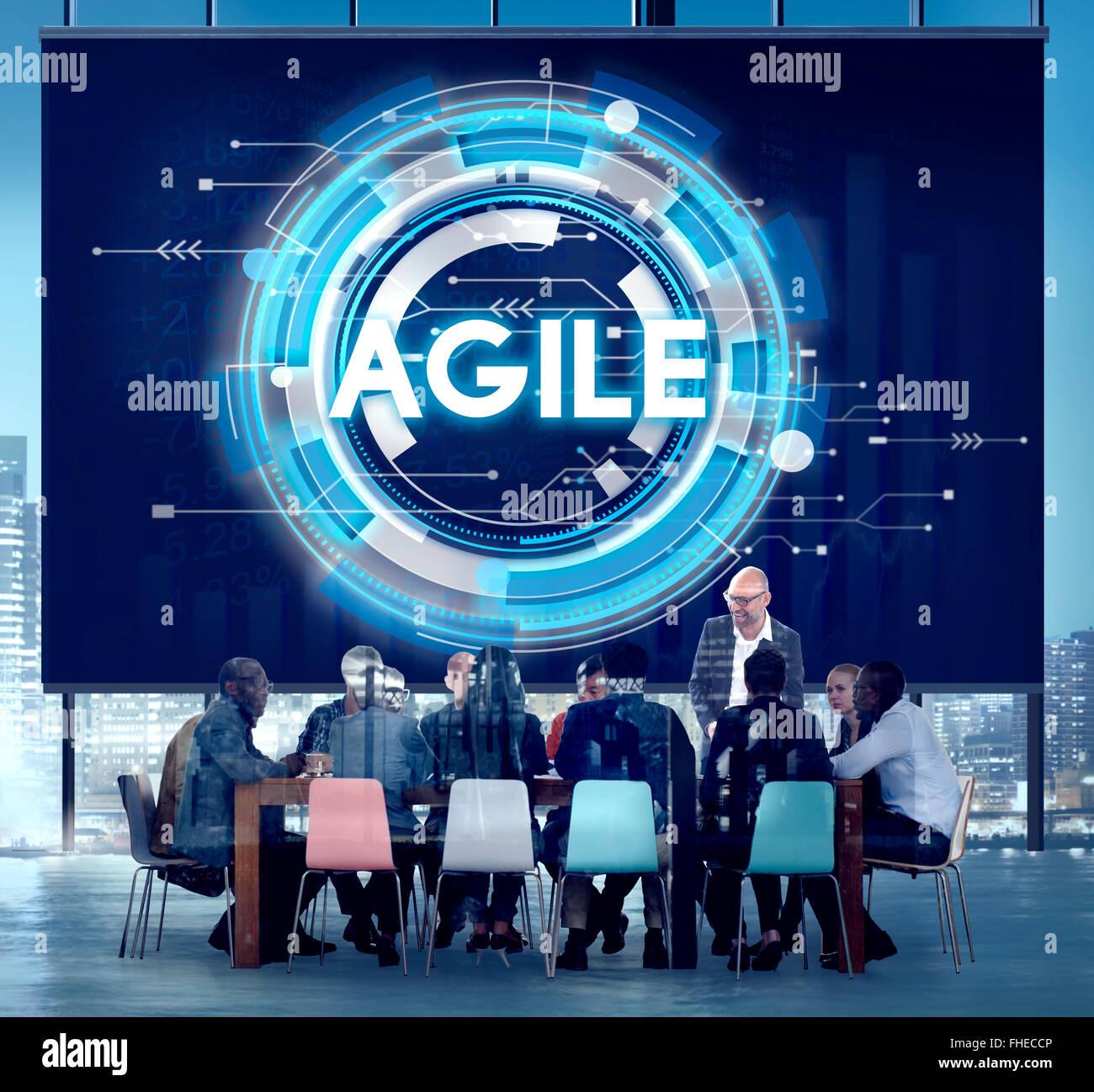 Agile e veloce veloce tecnologia agile il concetto di agilità Immagini Stock
